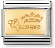 Nomination Gold Queen Charm