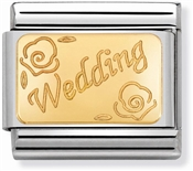 Nomination Gold Wedding Charm