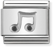 Nomination Silver Crystal Music Note Charm