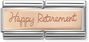 Nomination Rose Gold Happy Retirement Double Charm