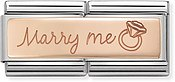 Nomination Rose Gold Marry Me Double Charm