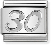 Nomination Oxidised Silver 30 Birthday Charm