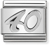 Nomination Silver 40 Birthday Charm
