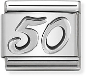 Nomination Oxidised Silver 50 Birthday Charm
