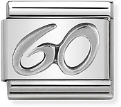 Nomination Oxidised Silver 60 Birthday Charm