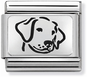 Nomination Silver Dog Charm