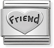 Silver Friend Charm by Nomination