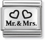 Nomination Mr and Mrs Hearts Charm