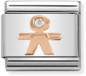 Nomination Rose Gold Little Boy Charm