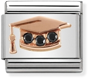 Nomination Rose Gold Graduation Hat Charm