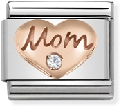 Nomination Rose Gold Mom & Heart Charm