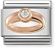 Nomination Rose Gold Wedding Ring Charm