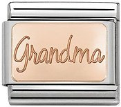 Rose Gold Grandma Charm by Nomination