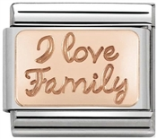 Nomination Rose Gold I Love Family Charm