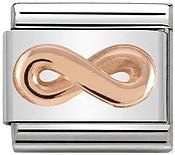 Rose Gold Infinity Charm by Nomination