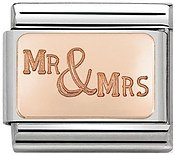 Rose Gold Mr & Mrs Charm by Nomination