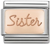 Rose Gold Sister Charm by Nomination