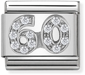 Nomination Silver Crystal 60 Birthday Charm