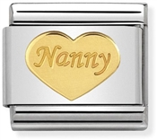 Gold Nanny Heart Charm by Nomination