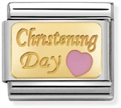 Nomination Pink Christening Day Charm