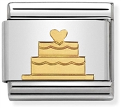 Nomination Gold Tiered Cake Charm