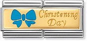 Nomination Blue Christening Day Double Charm