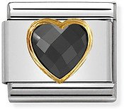 Nomination Black & Gold Heart Charm