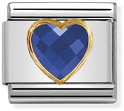 Nomination Blue & Gold Heart Charm