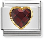Red & Gold Heart Charm by Nomination