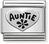 Silver Auntie Charm by Nomination