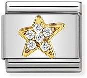 Nomination Gold Asymmetric Star Charm