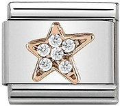 Nomination Rose Gold Asymmetric Star Charm