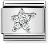 Nomination Silver Asymmetric Star