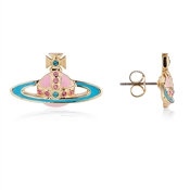 Vivienne Westwood Neo Bas Relief Pink & Blue Earrings