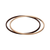 Pilgrim Melanie Mix Metal Bronze Bangle Set