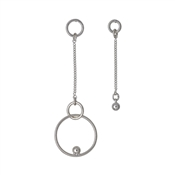 Pilgrim Cait Silver Asymmetric Earrings