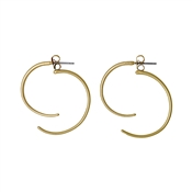 Pilgrim Irregular Shape Gold Earrings