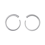Pilgrim Silver Plated Front Facing Circle Earrings
