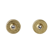 Pilgrim Eilidh Gold Plated Crystal Stud Earrings