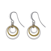 Pilgrim Iona Silver & Gold Plated Earrings