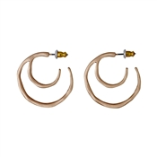 Pilgrim Saundra Rose Gold Plated Hoop Earrings