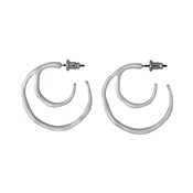 Pilgrim Saundra Silver Hoop Earrings