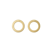 Pilgrim Zoey Gold Plated Circle Stud Earrings