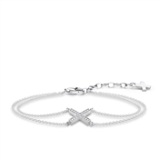 Thomas Sabo Silver Double Chain Cross Bracelet