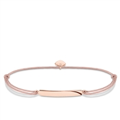Thomas Sabo Little Secrets Engravable Rose Gold & Pink Bracelet