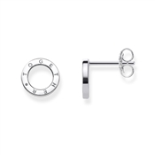 Thomas Sabo Together Circle Silver Stud Earrings