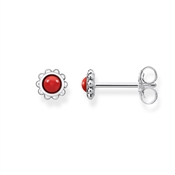 Thomas Sabo Filigree Red & Silver Stud Earring