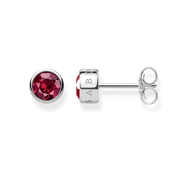 Thomas Sabo Sparkling Red Stud Earrings