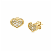 Nomination Angel Love Gold Stud Earrings