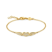 Nomination Angel Gold Winged Heart Bracelet
